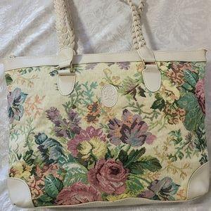 VTG Floral Tapestry Bag